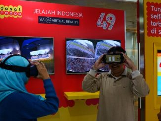 Virtual Reality 360 video booth di Gerai Indosat Ooredoo Medan Merdeka