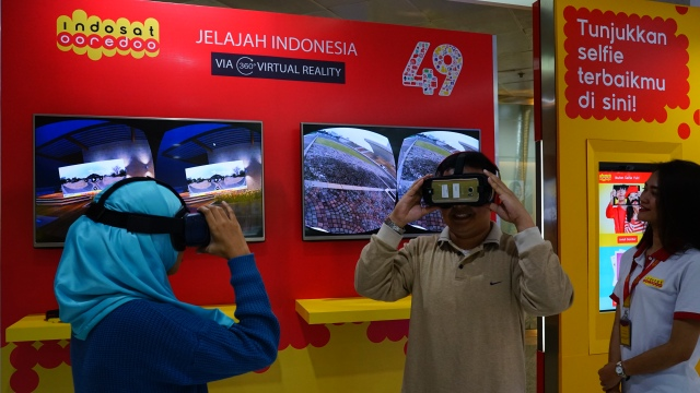 Virtual Reality 360 video booth di Gerai Indosat Ooredoo Medan Merdeka