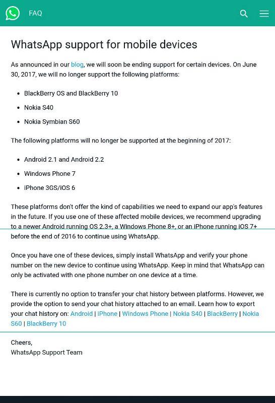 whatsapp-tidak akan lagi support blackberry