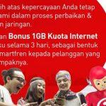 Kompensasi 1GB dari Smartfren untuk pelanggan