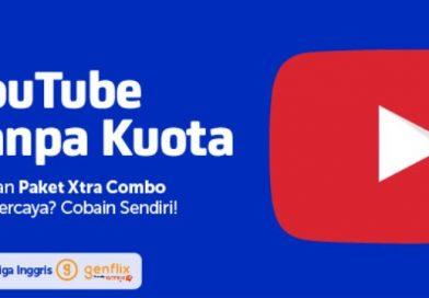 Paket Xtra Combo gratis Youtube sebulan