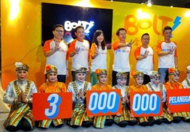 Jumlah pelanggan BOLT mencapai 3 juta pengguna