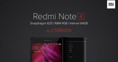 Xiaomi redmi note 4 dengan 4GB RAM