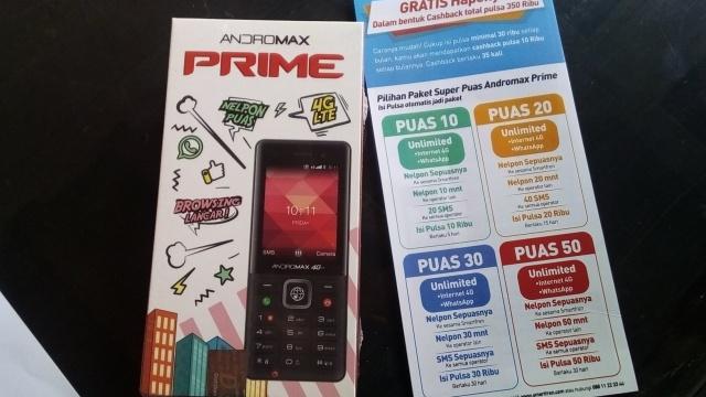 Ponsel 4G Andromax Prime