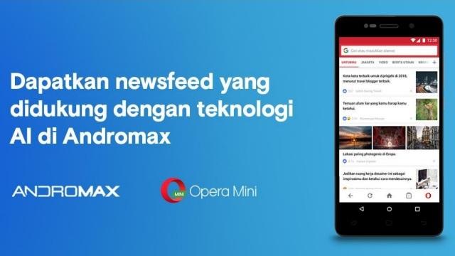 Poster kerjasama Opera Mini dengan Andromax