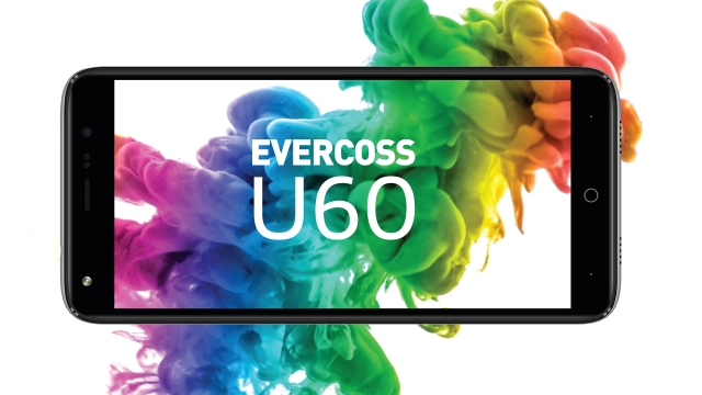 Evercoss U60, dual camera + FullView Display sejutaan