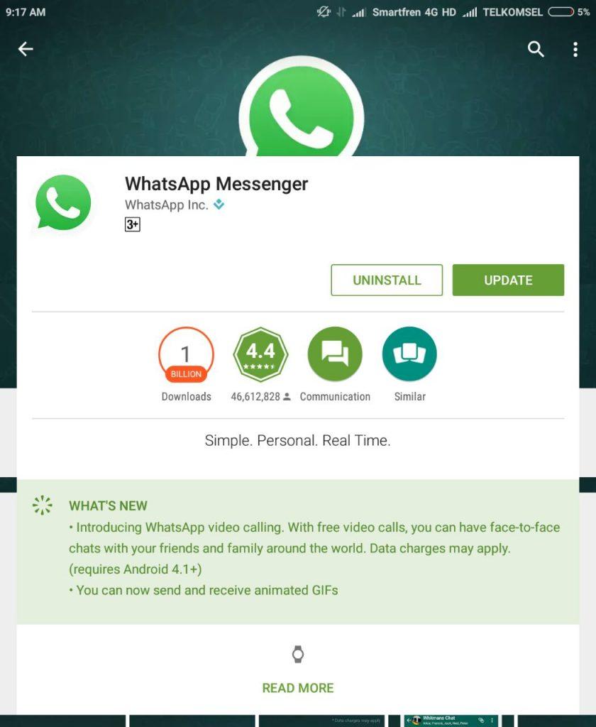 capture dari Update aplikasi whatsapp bisa video call dan kirim gambar bergerak GIF