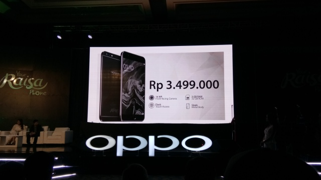 OPPO F1s Limited Black Edition - Your Raisa Phone