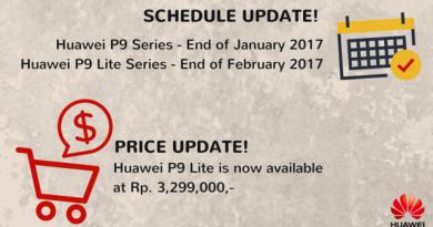 Harga HUawei P9 Lite turun