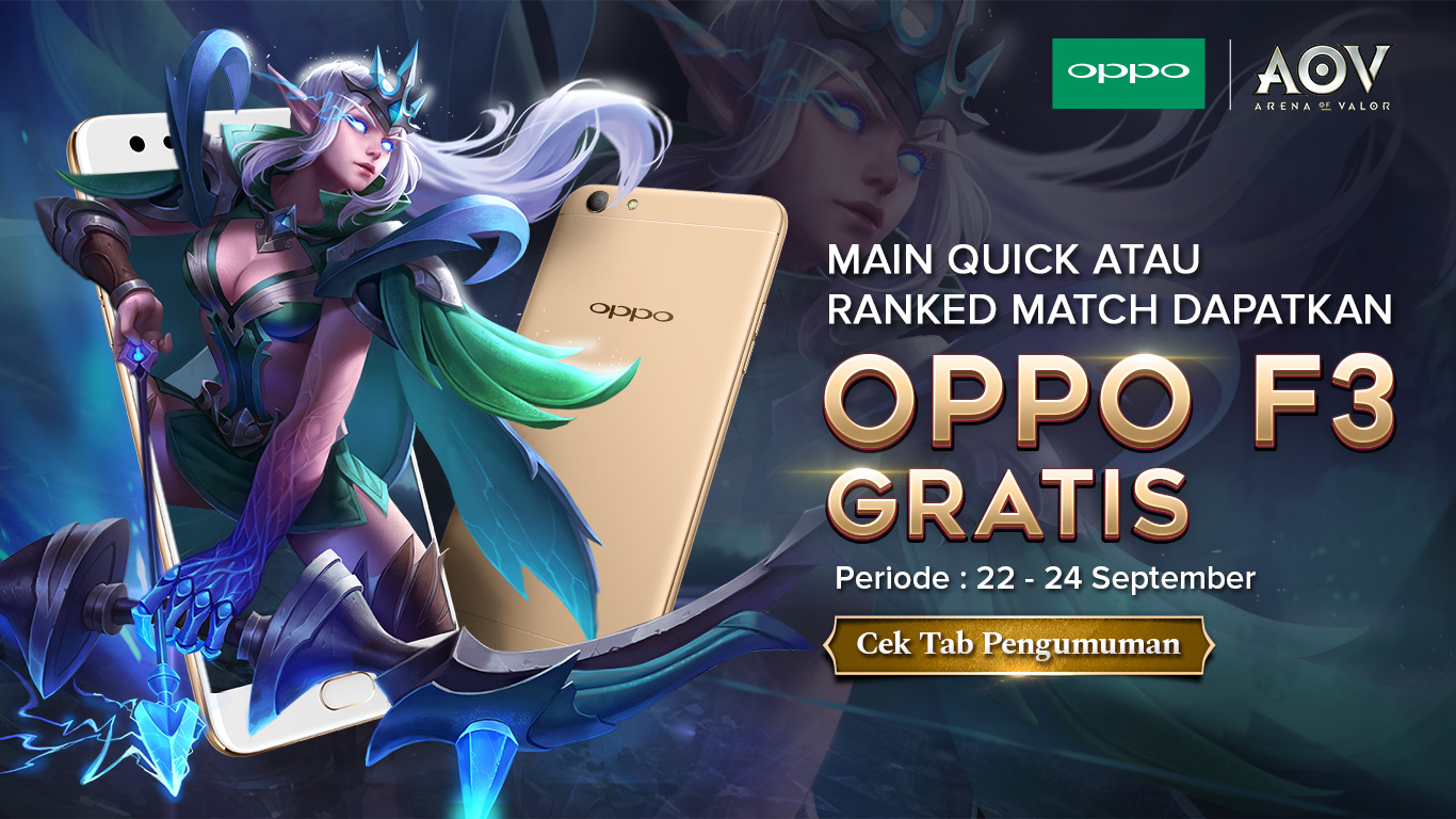Main Arena of Valor Gratis OPPO F3
