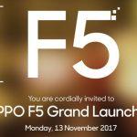 OPPO F5 Bakal Resmi Rilis Tengah Bulan November 2017 di Indonesia