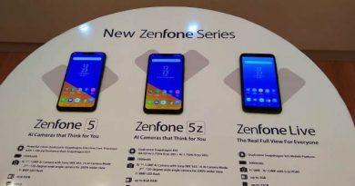 Zenfone 5, Zenfone 5Z dan Zenfone Live L1